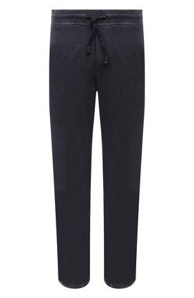 Мужские хлопковые брюки JAMES PERSE темно-серого цвета, арт. MXA1161 | Фото 1 (Материал внешний: Хлопок; Длина (брюки, джинсы): Стандартные; Кросс-КТ: Спорт; Стили: Спорт-шик; Мужское Кросс-КТ: Брюки-трикотаж)