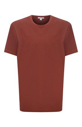 Мужская хлопковая футболка JAMES PERSE  цвета, арт. MLJ3311 | Фото 1 (Материал внешний: Хлопок; Принт: Без принта; Длина (для топов): Стандартные; Рукава: Короткие; Стили: Кэжуэл)
