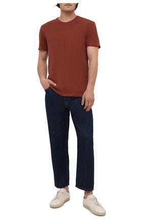Мужская хлопковая футболка JAMES PERSE  цвета, арт. MLJ3311 | Фото 2 (Материал внешний: Хлопок; Принт: Без принта; Длина (для топов): Стандартные; Рукава: Короткие; Стили: Кэжуэл)