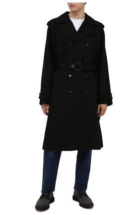 Мужские комбинированные дерби DOUCAL'S серого цвета, арт. DU2514ST0CPT3432N05 | Фото 2 (Материал внутренний: Текстиль, Натуральная кожа; Материал внешний: Текстиль; Стили: Классический)