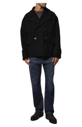 Мужские замшевые ботинки DOUCAL'S темно-серого цвета, арт. DU2654ED0-UM024NN05 | Фото 2 (Подошва: Плоская; Мужское Кросс-КТ: Ботинки-обувь, зимние ботинки; Материал внешний: Замша; Материал утеплителя: Натуральный мех)