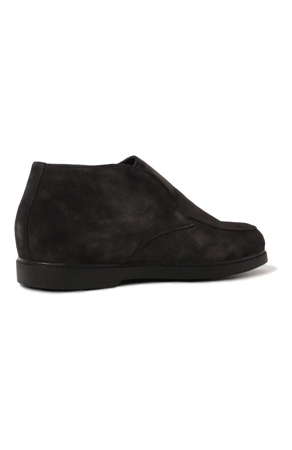 Мужские замшевые ботинки DOUCAL'S темно-серого цвета, арт. DU2654ED0-UM024NN05 | Фото 5 (Материал утеплителя: Натуральный мех; Мужское Кросс-КТ: Ботинки-обувь, зимние ботинки; Подошва: Плоская; Материал внешний: Замша)