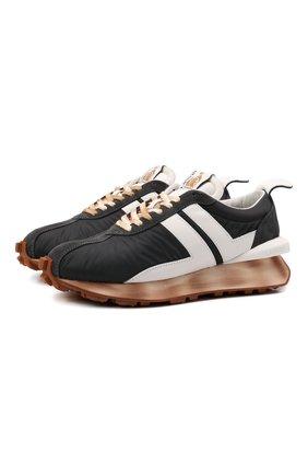 Мужские комбинированные кроссовки bumpr LANVIN темно-серого цвета, арт. FM-SKBRUN-NYL0-A21 | Фото 1