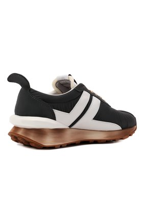 Мужские комбинированные кроссовки bumpr LANVIN темно-серого цвета, арт. FM-SKBRUN-NYL0-A21   Фото 4 (Материал внешний: Текстиль; Материал внутренний: Натуральная кожа, Текстиль; Стили: Гранж; Подошва: Массивная)