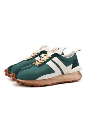 Мужские комбинированные кроссовки bumpr LANVIN зеленого цвета, арт. FM-SKBRUN-NYL0-A21 | Фото 1
