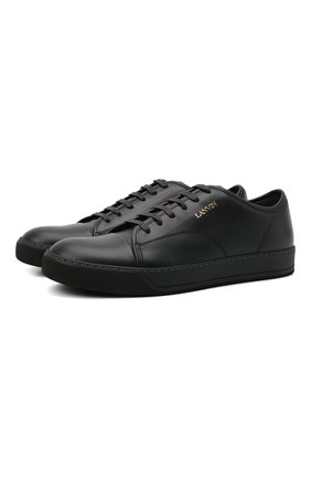 Мужские кожаные кеды dbb1 LANVIN черного цвета, арт. FM-SKDBB1-NAME-A21 | Фото 1