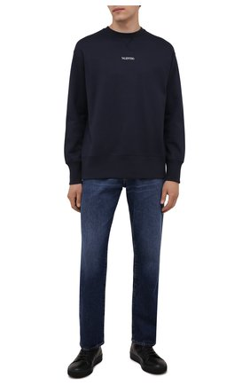 Мужские кожаные кеды dbb1 LANVIN черного цвета, арт. FM-SKDBB1-NAME-A21 | Фото 2