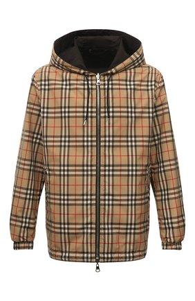 Мужская двусторонняя куртка BURBERRY бежевого цвета, арт. 8027097 | Фото 1