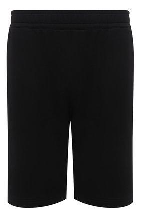 Мужские хлопковые шорты BURBERRY черного цвета, арт. 8043279 | Фото 1