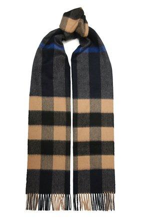 Мужской кашемировый шарф BURBERRY разноцветного цвета, арт. 8022349 | Фото 1 (Материал: Шерсть, Кашемир; Кросс-КТ: кашемир)