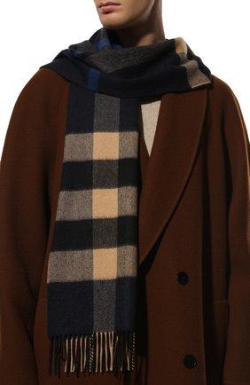 Мужской кашемировый шарф BURBERRY разноцветного цвета, арт. 8022349 | Фото 2 (Материал: Шерсть, Кашемир; Кросс-КТ: кашемир)