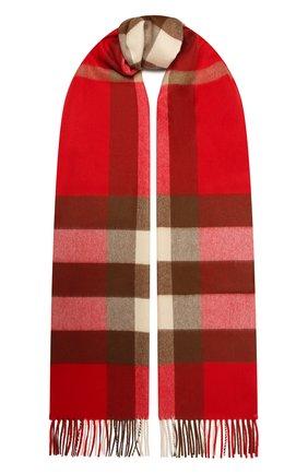 Мужской кашемировый шарф BURBERRY красного цвета, арт. 8022348 | Фото 1