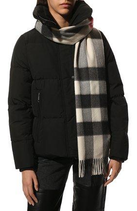 Мужской кашемировый шарф BURBERRY кремвого цвета, арт. 8015550 | Фото 2