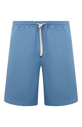 Мужские хлопковые шорты GUCCI голубого цвета, арт. 659825/ZAGP5 | Фото 1