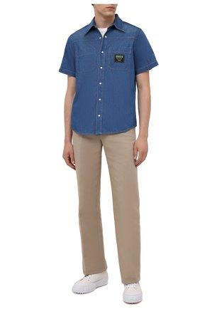 Мужская джинсовая рубашка GUCCI синего цвета, арт. 655704/XDBL2 | Фото 2