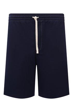 Мужские хлопковые шорты GUCCI синего цвета, арт. 654900/ZAGVM | Фото 1
