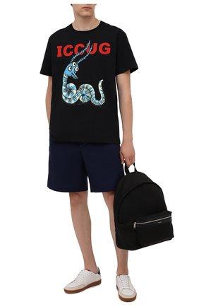 Мужские хлопковые шорты GUCCI синего цвета, арт. 654900/ZAGVM | Фото 2