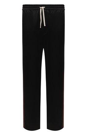 Мужские брюки из хлопка и вискозы GUCCI черного цвета, арт. 654880/ZAGU7 | Фото 1 (Материал внешний: Хлопок, Вискоза; Длина (брюки, джинсы): Стандартные; Случай: Повседневный; Стили: Спорт-шик)