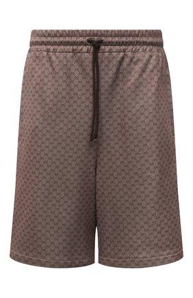 Мужские шорты GUCCI коричневого цвета, арт. 654762/XJDFB | Фото 1