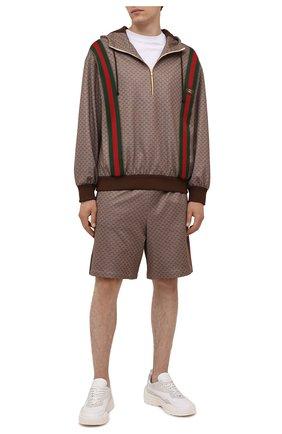 Мужские шорты GUCCI коричневого цвета, арт. 654762/XJDFB | Фото 2