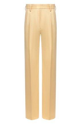 Мужские брюки из хлопка и вискозы GUCCI бежевого цвета, арт. 651686/ZAGP3 | Фото 1