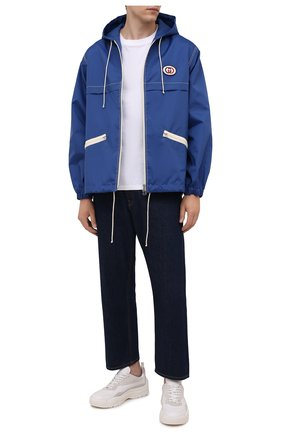 Мужская куртка GUCCI синего цвета, арт. 654834/ZAGVW | Фото 2