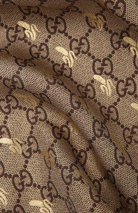 Мужской шелковый платок GUCCI зеленого цвета, арт. 663710/4G001   Фото 2