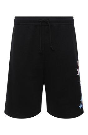 Мужские хлопковые шорты GUCCI черного цвета, арт. 663249/XJDNK | Фото 1