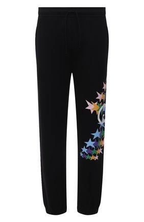 Мужские хлопковые джоггеры GUCCI черного цвета, арт. 663246/XJD0V | Фото 1 (Материал внешний: Хлопок; Длина (брюки, джинсы): Стандартные; Силуэт М (брюки): Джоггеры; Мужское Кросс-КТ: Брюки-трикотаж; Стили: Спорт-шик)