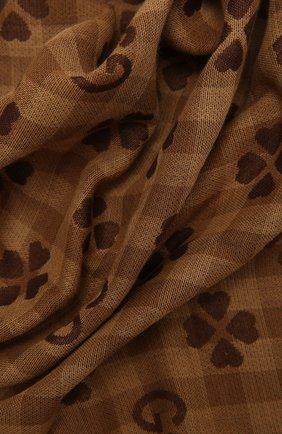 Мужской хлопковый шарф GUCCI коричневого цвета, арт. 662446/4G114 | Фото 2