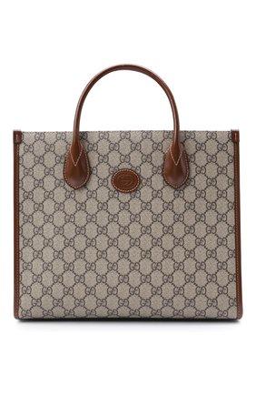 Мужская сумка-тоут gg supreme GUCCI светло-коричневого цвета, арт. 659983/92TCG | Фото 1