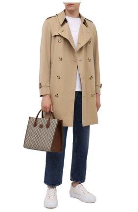 Мужская сумка-тоут gg supreme GUCCI светло-коричневого цвета, арт. 659983/92TCG | Фото 2