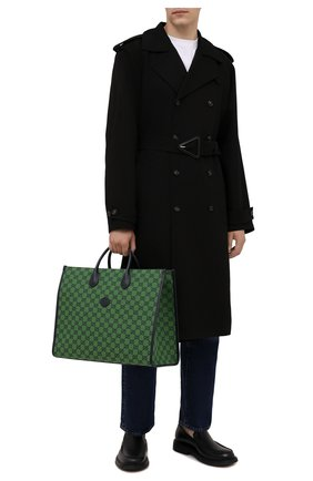 Мужская текстильная сумка-тоут gg multicolor GUCCI зеленого цвета, арт. 659980/2UZAN | Фото 2