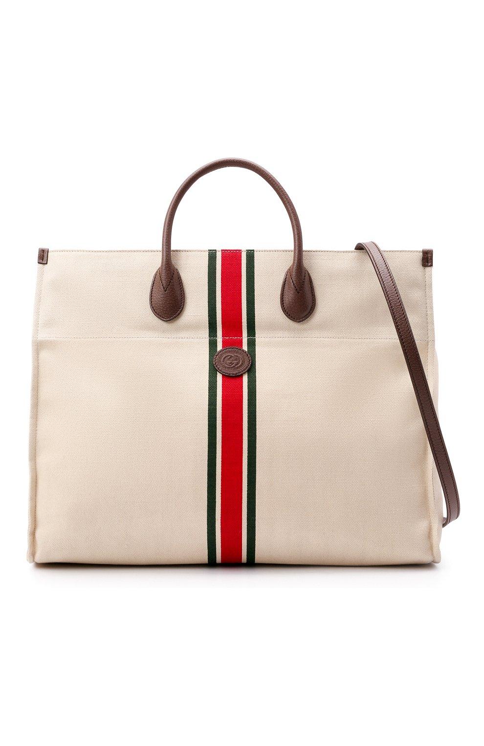 Мужская текстильная сумка-тоут GUCCI светло-бежевого цвета, арт. 658876/2U2AG   Фото 6