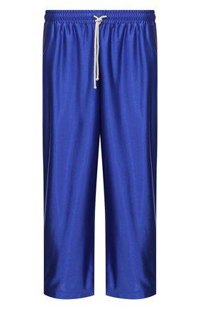 Мужские брюки GUCCI синего цвета, арт. 654750/XJDI9 | Фото 1