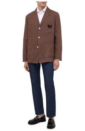 Мужские джинсы GUCCI синего цвета, арт. 623953/XDBMG | Фото 2