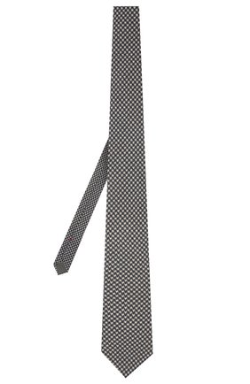 Мужской шерстяной галстук BRUNELLO CUCINELLI темно-синего цвета, арт. MM8800018 | Фото 2 (Материал: Шерсть; Принт: С принтом)
