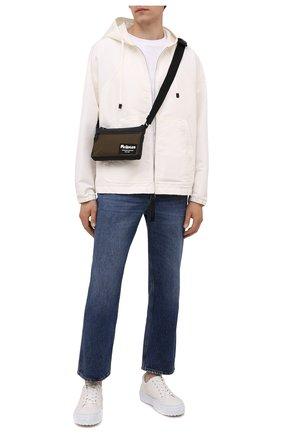 Мужская текстильная сумка ALEXANDER MCQUEEN хаки цвета, арт. 663144/1AAB5 | Фото 2 (Ремень/цепочка: На ремешке; Материал: Текстиль)