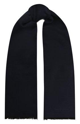 Мужской шелковый шарф GIORGIO ARMANI синего цвета, арт. 745021/1A121 | Фото 1