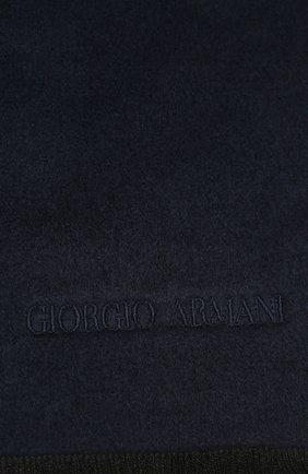Мужской шелковый шарф GIORGIO ARMANI синего цвета, арт. 745021/1A121 | Фото 2