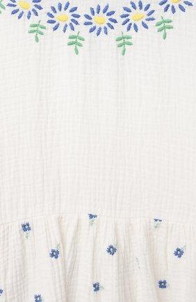 Детское хлопковое платье STELLA MCCARTNEY белого цвета, арт. 602777/SQKD3 | Фото 3 (Рукава: Короткие; Случай: Повседневный; Материал внешний: Хлопок; Девочки Кросс-КТ: Платье-одежда; Ростовка одежда: 9 лет | 134 см, 12 лет | 152 см, 13 - 15 лет | 158 см, 16 лет | 164 см, 18 мес | 86 см, 2 года | 92 см, 3 года | 98 см, 4 года | 104 см, 5 лет | 110 см, 7 лет | 122 см)