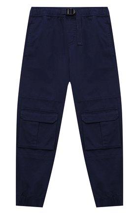 Детские хлопковые брюки STELLA MCCARTNEY темно-синего цвета, арт. 603096/SQKE8 | Фото 1