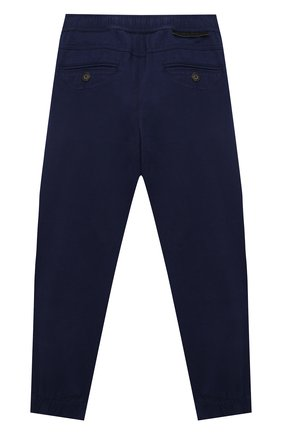 Детские хлопковые брюки STELLA MCCARTNEY темно-синего цвета, арт. 603096/SQKE8 | Фото 2