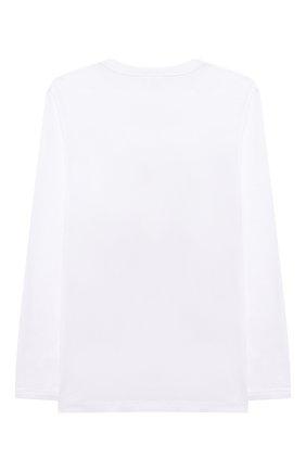 Детская хлопковый лонгслив STELLA MCCARTNEY белого цвета, арт. 603086/SQJ39 | Фото 2