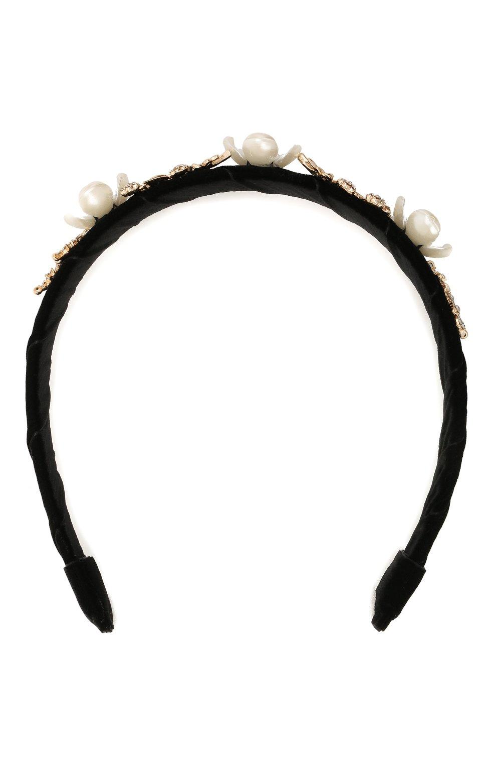 Детского ободок DAVID CHARLES черного цвета, арт. 7709   Фото 1 (Материал: Текстиль, Хлопок)