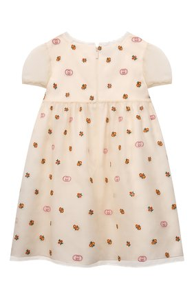 Женский шелковое платье GUCCI белого цвета, арт. 663600/ZAHBE   Фото 2