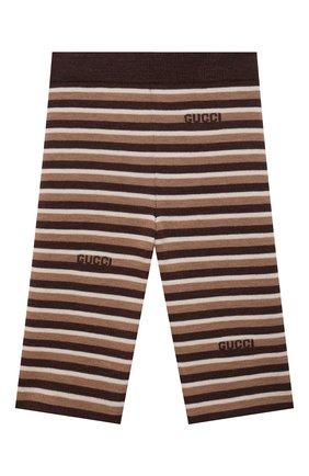 Детские шерстяные брюки GUCCI бежевого цвета, арт. 659223/XKBWL   Фото 1 (Материал внешний: Шерсть; Ростовка одежда: 12 мес   80 см, 18 мес   86 см, 24 мес   92 см, 36 мес   98 см, 9 мес   74 см)
