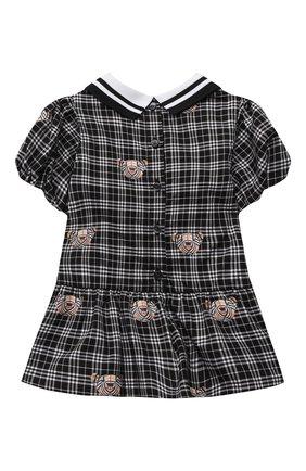 Женский хлопковое платье BURBERRY черно-белого цвета, арт. 8041011 | Фото 2