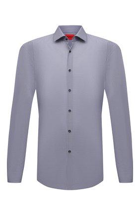 Мужская хлопковая сорочка HUGO темно-синего цвета, арт. 50456077 | Фото 1
