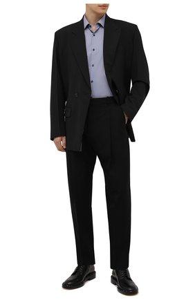 Мужская хлопковая сорочка HUGO темно-синего цвета, арт. 50456077 | Фото 2